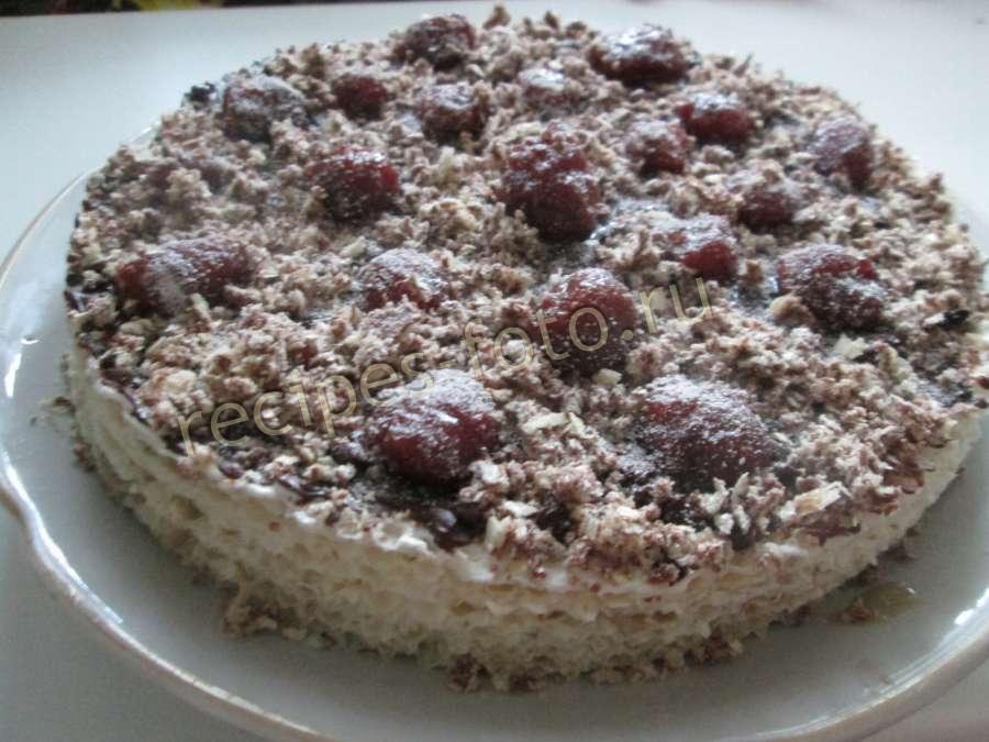 Вкусный торт из вафельных коржей со сгущенкой и сметаной
