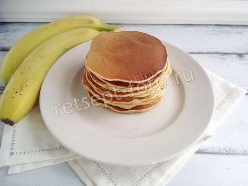 Банановые панкейки на кефире для детей от 1,5 года