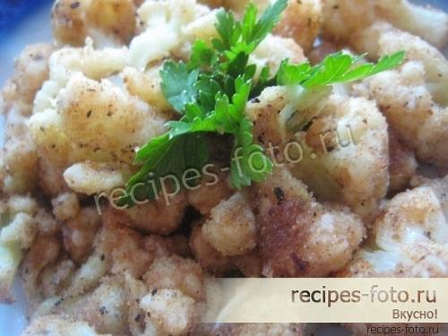 цветная капуста в кляре в сухарях пошаговый рецепт с фото