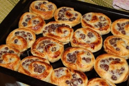 Пирожки с изюмом рецепт пошагово