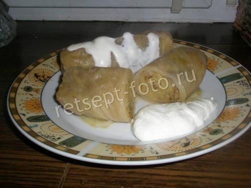 Голубцы с сырой картошкой и грибами