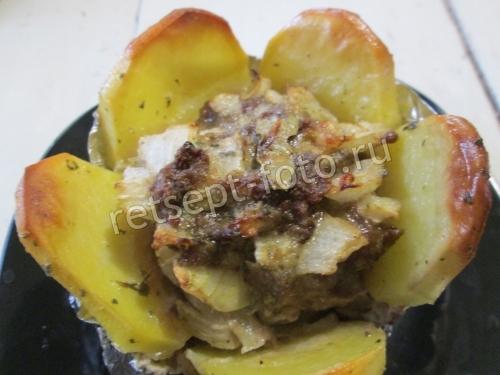 Картошка с мясом в духовке