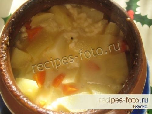 картошка в горшочках в духовке без мяса