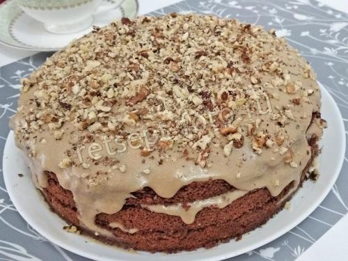 Кофейный торт с бисквитом