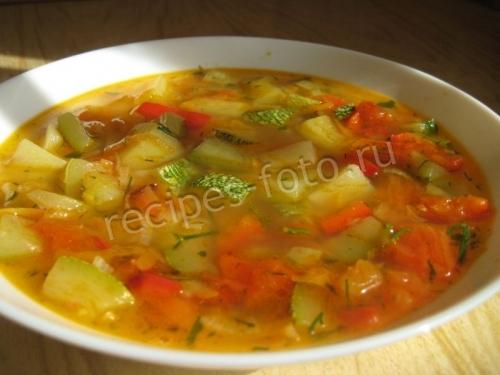 как приготовить постный суп с кабачком