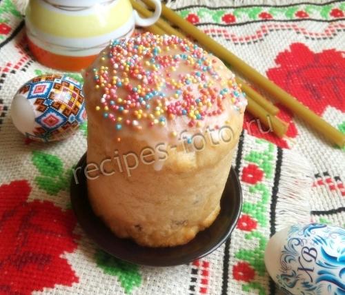 Рецепт кулича из сухих дрожжей пасхального с пошагово в