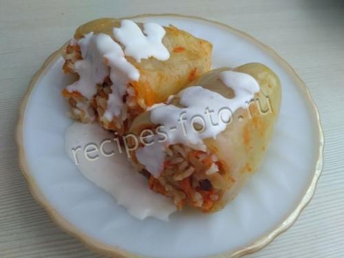 Перец фаршированный рисом и морковью в мультиварке