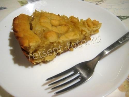 Пирог с капустой и яйцом на дрожжевом тесте