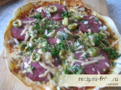 пицца рецепт в домашних условиях в духовке пошагово с фото