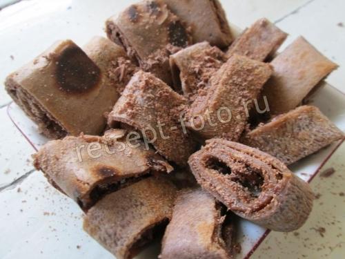 Шоколадные блины с шоколадом