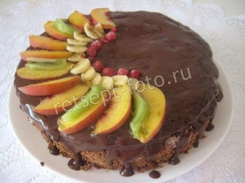 """Шоколадный торт """"Фруктовая шкатулка"""""""