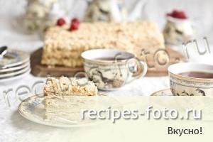наполеон с вареной сгущенкой рецепт с фото