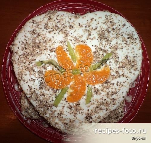 Домашний торт с заварным кремом рецепт с фото