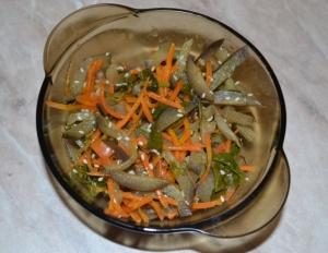 Баклажаны по-корейски с морковью без соевого соуса