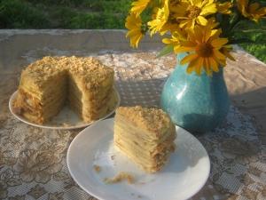 Домашний торт Наполеон с заварным кремом (классический советский рецепт)