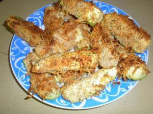 Кабачки в кляре с сыром в духовке