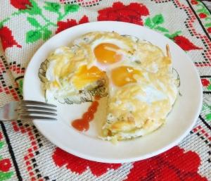 Картошка с сыром и яйцом в духовке для детей от 1,5 года