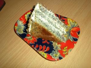 Маковый торт с заварным сметанно-масляным кремом