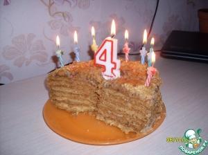 Медовый торт (самый простой)