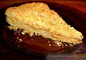 """Торт """"Наполеон"""" классический в домашних условиях с заварным кремом"""