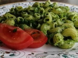Паста со шпинатом и сыром