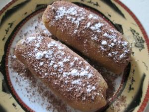 Пирожное из печенья с яблоками без выпечки