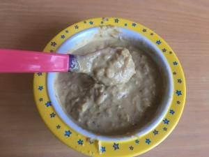 Пюре из куриной печени, цветной капусты и картофеля детям от 1 года
