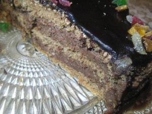 Простой домашний бисквитный торт со сметанным кремом