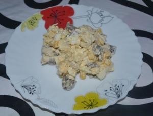 Салат Зодиак с шампиньонами и курицей