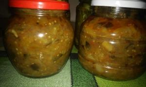 Соте из баклажанов и помидоров на зиму