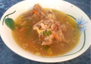 Суп со свининой и картофелем