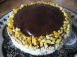 Апельсиновый торт на кефире со сметанным шоколадным кремом