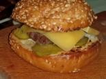 Бургеры с котлетой и сыром