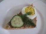 Бутерброды с паштетом, огурцом и яйцом