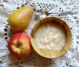 Детское пюре из яблок и груш для грудничка 6 месяцев