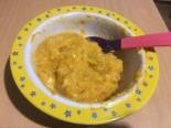 Детское пюре из овощей с перепелиным яйцом ребенку от 1 года