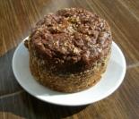 Диетический шоколадный кекс из творога и овсянки