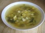 Диетический суп со стручковой фасолью и яйцом без мяса