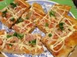 Домашняя дрожжевая пицца с ветчиной