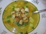 Гороховый суп с чесночными гренками