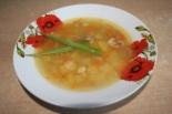Гороховый суп на свиной кости с мясом