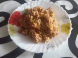 Гречка с куриным фаршем и овощами на сковороде