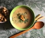 Грибной крем-суп из лисичек со сливками