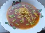 Грузинский суп с яичными блинчиками