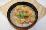 Густой картофельный суп с мясом