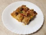 Каннеллоне с курицей и грибами в томатном соусе