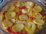 Картофель с перцем в духовке без мяса