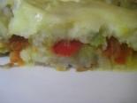 Картофельная запеканка в духовке с овощами без мяса