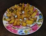 Картошка дольками с салом в духовке