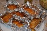 Картошка-гармошка с сыром в духовке